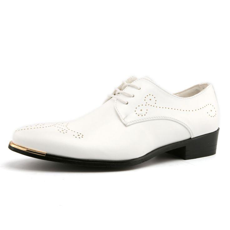 Мужчины умные, стильные обувь мужчины люксовый бренд известный балет пуанты обувь коричневый белый мужчина обувь мальчиков brogue оксфорд обувь для мужчины