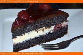 Makovo-višňová torta (bez múky) s mascarpone a bielou čokoládou