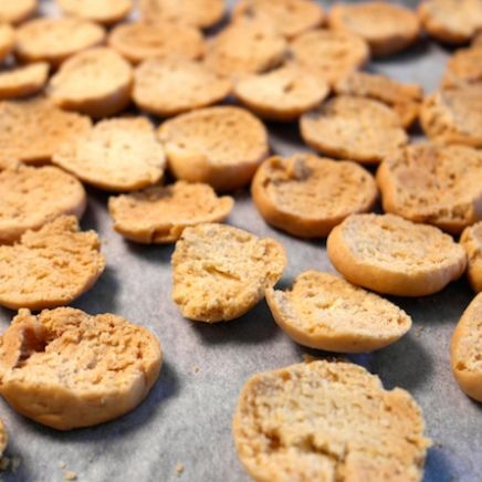Homemade kammerjunkere - Danish bisquits that are eaten with a delicious cold buttermilk soup.