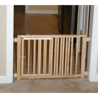 Wooden Dog Gate with Door - Door Closed