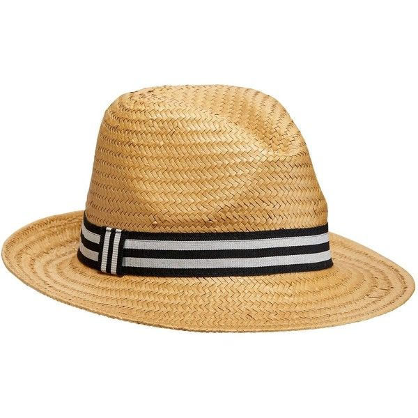 Old Navy Mens Straw Fedora ($10) ❤ liked on Polyvore featuring men's fashion, men's accessories, men's hats, mens wide brim fedora, mens hats fedora, mens straw hats and mens baseball caps