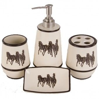 Running Horse Bathroom Set | Western & horse decor