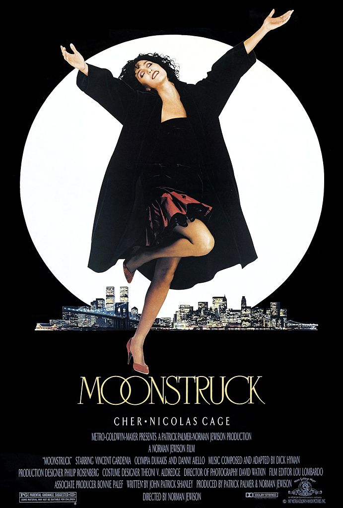 "Moonstruck (1987) ""Aw, ma, I love him awful!"" Nicholas Cage and Cher. Movie gold.  Watch this!"