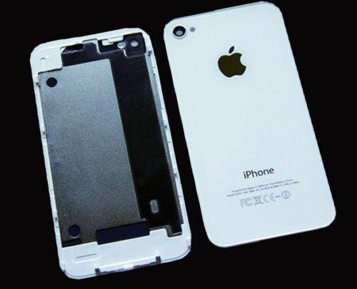 Apple Akkudeckel Rückseite Backcover passend für Original iPhone 4 in weiß Neu