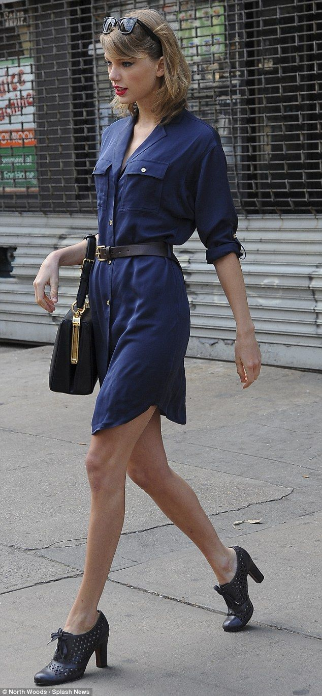 Love this belted shirt-dress