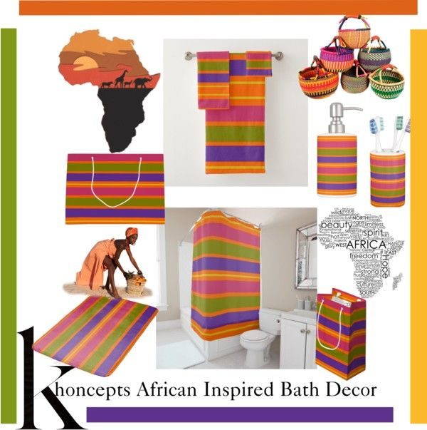 African Inspired Bath Decor