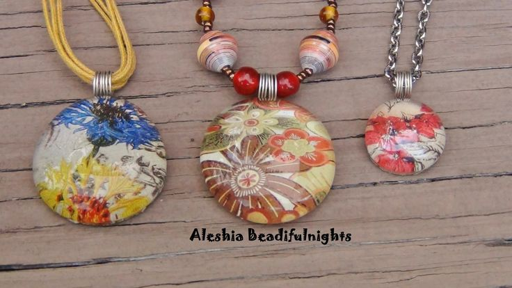 Glass Marble Picture Pendant Tutorial