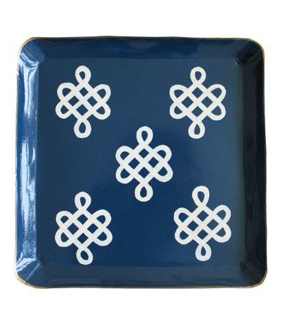 Navy nautical knots tray, $34.: Navy Nautical, Navy Inspiration, Interiors Inspiration, Squares, Knot Trays, Design Elements, Products, Nautical Knots
