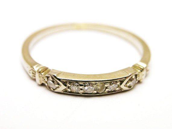 Art Deco Orange Blossom Diamond Ring Traub Of Detroit