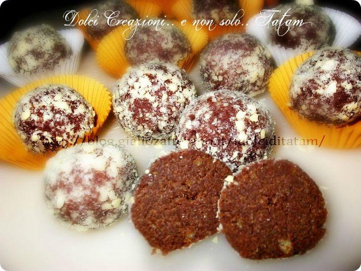 Cake Balls cioccolato e arancia Ecco dei dolcetti al cioccolato fondente,preparati con una deliziosa torta all'arancia, aromatizzati al brandy:le Cake Balls