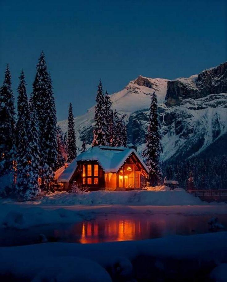 зимний дом фото картинки комара