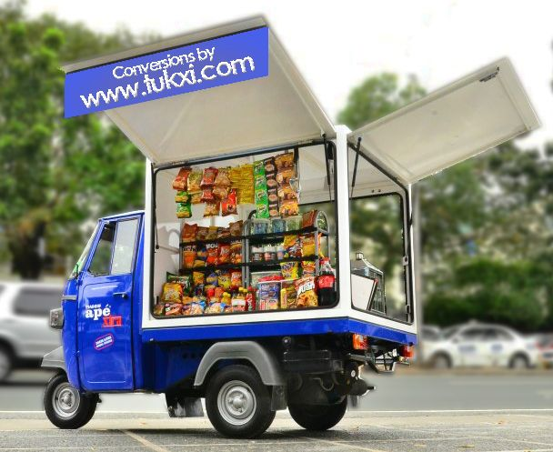 Piaggio Ape Conversions - Piaggio Ape sales and conversions by Tukxi, Street food trucks, shop display, vending & Coffee carts 01297 441299  international 0044 1297 441299