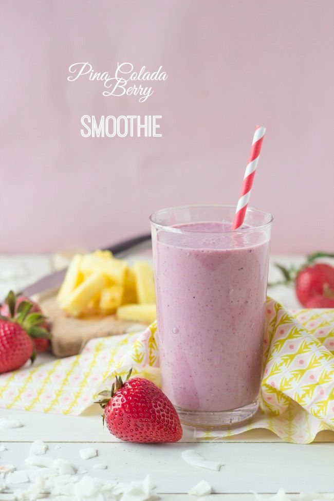 Pina Colada Berry Smoothie   Baking a Moment