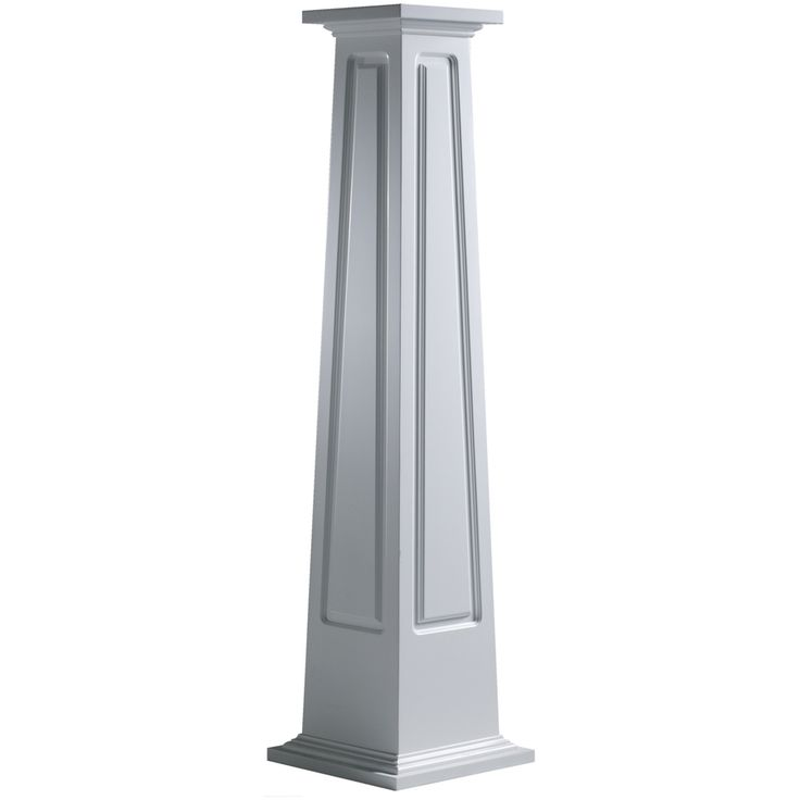 Craftsman porch columns shop turncraft 16 in x 4 ft pvc for Craftsman columns