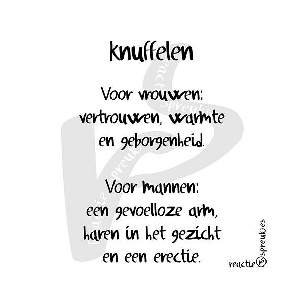 Knuffelen - het verschil #mannen #vrouwen #humor