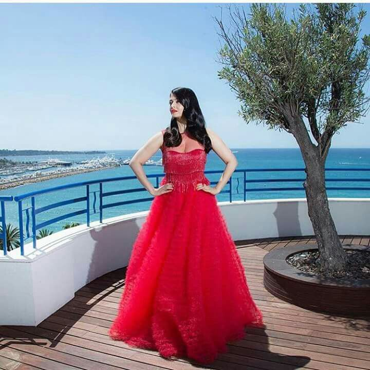 #Aishwarya Rai#cannes 2016 #Red Gown