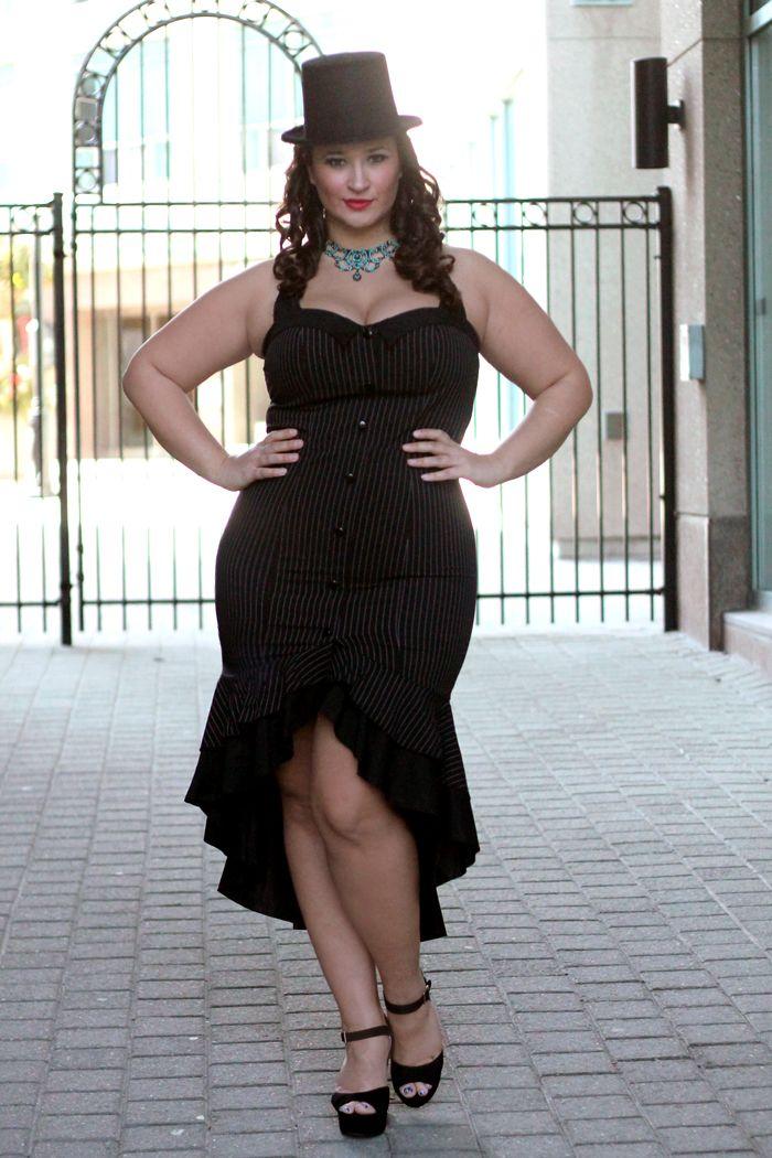 Sexy plus size dresses-6600