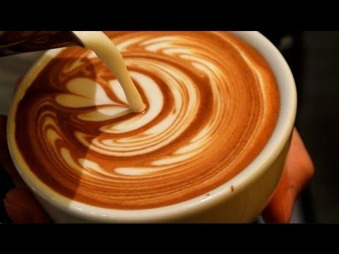 Latte Art Video - Tulip - YouTube