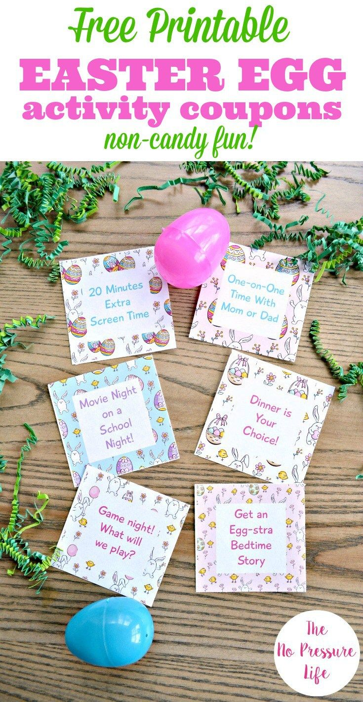 photo about Egg Coupons Printable named Cost-free Printable Easter Egg Discount coupons Entertaining Fillers Youngsters Will