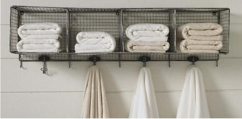 bathroom towel storage (Camping Hacks Shower)