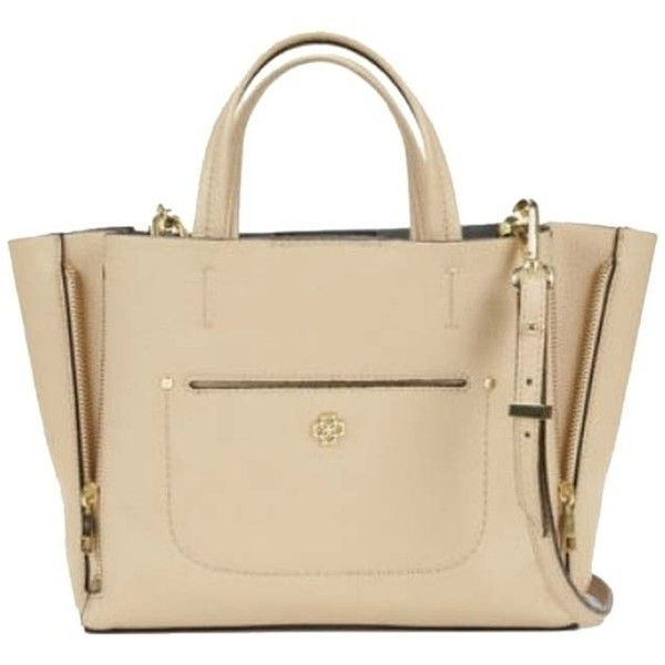 Pre-owned Ann Taylor Mini Pebbled Signature Tote- Pale Camel Tote Bag ($106) ❤ liked on Polyvore featuring bags, handbags, tote bags, bolsos, carteras, purses, pale camel, ann taylor tote, purse tote and mini purse