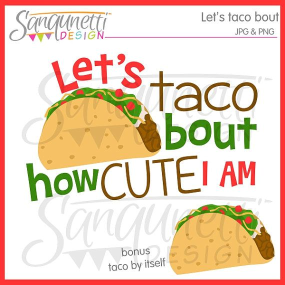 Taco clipart, food clipart, cute clipart, mexican clipart, instant download