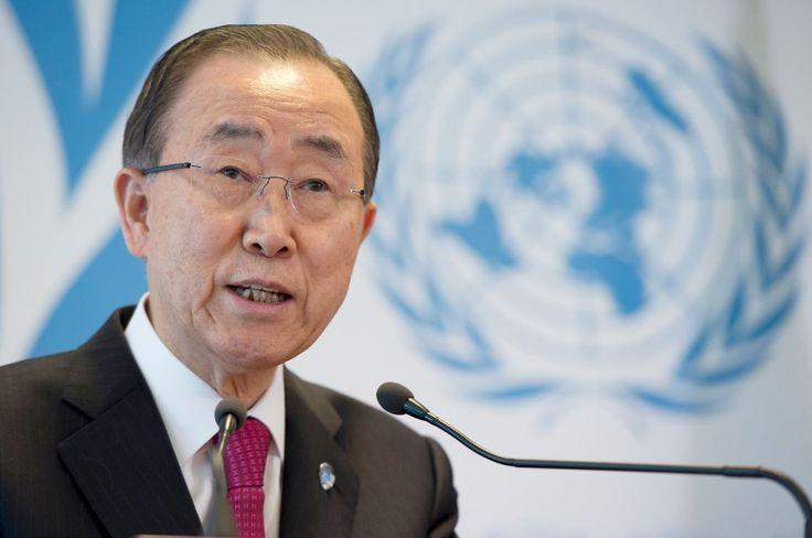 Ban Ki-moon Secrétaire général de l'ONU, réunion sur les réfugiés à Genève 30/03/2016 © UN Photo/Jean-Marc Ferré