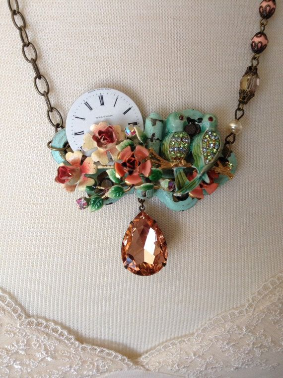 17 best images about jewelry on pinterest assemblages for Repurposed vintage jewelry designers