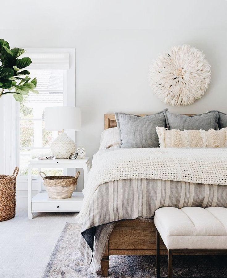 Bedroom decoration, natural earthy interior inspiration