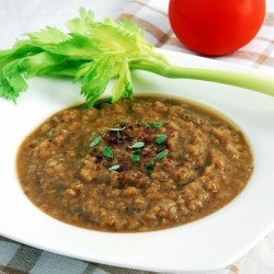 Red lentils soup with sumach, cumin: My son has made this soup for us ...