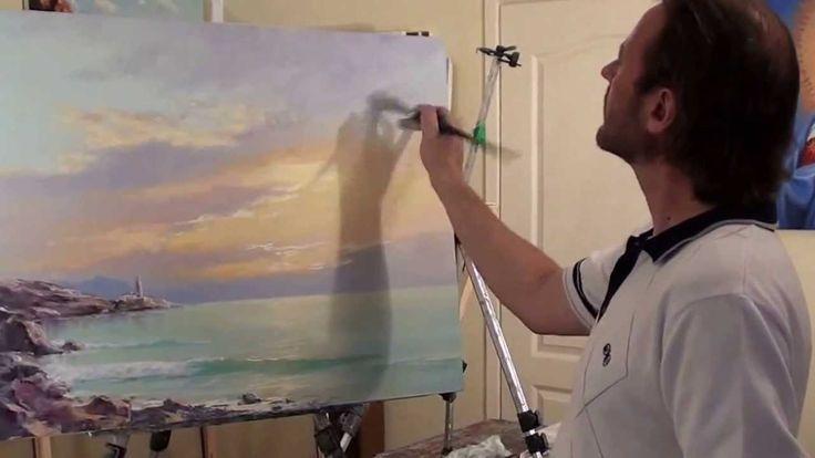 Pinturas de la clase principal de Igor Sajarov Amanecer en el mar