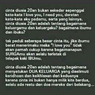 Karena cinta bukan hanya milik kita berdua...