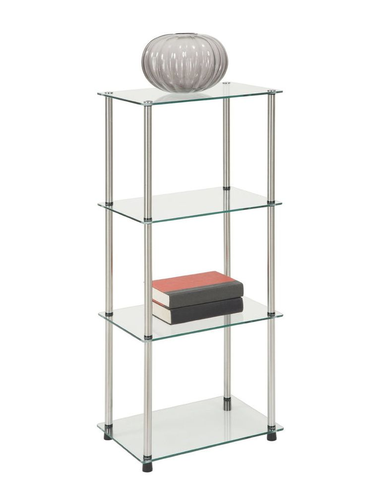 1000 ideas about glass display shelves on pinterest - Glass display units for living room ...