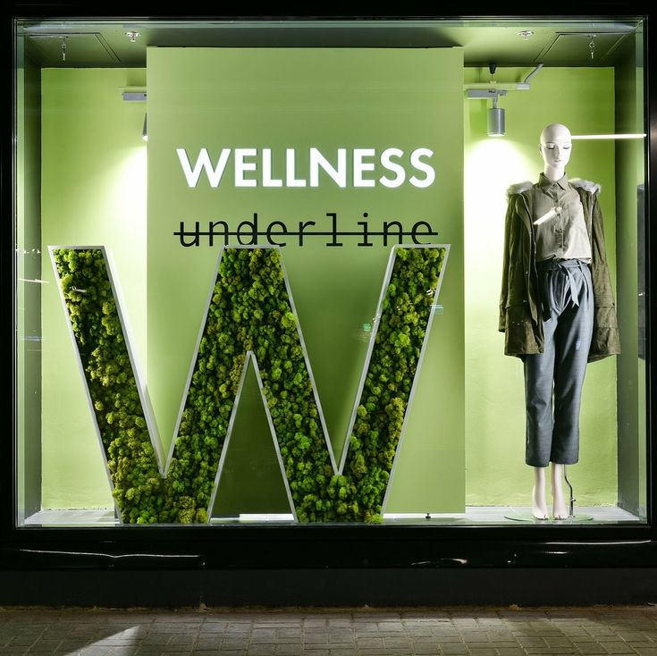 """UNDERLINE, Mega Belaya Dacha, Moscow, Russia, """"Health is a state of bode. Wellness is a state of being"""", Mannequin from Window France, pinned by Ton van der Veer"""