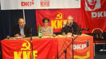 Από κοινή εκδήλωση του ΚΚΕ και του Γερμανικού ΚΚ μπροστά στις ευρωεκλογές του 2014