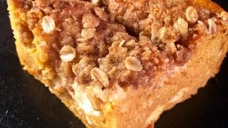 "Carla Hall's Sweet Potato Cream Cheese Dump Cake - (If trying this with canned sweet potato or pumpkin: ""Amount: 1 lb, pound of Sweet potato, canned food, mashed equals: 1.78 of cup in Sweet potato, canned food, mashed"")"