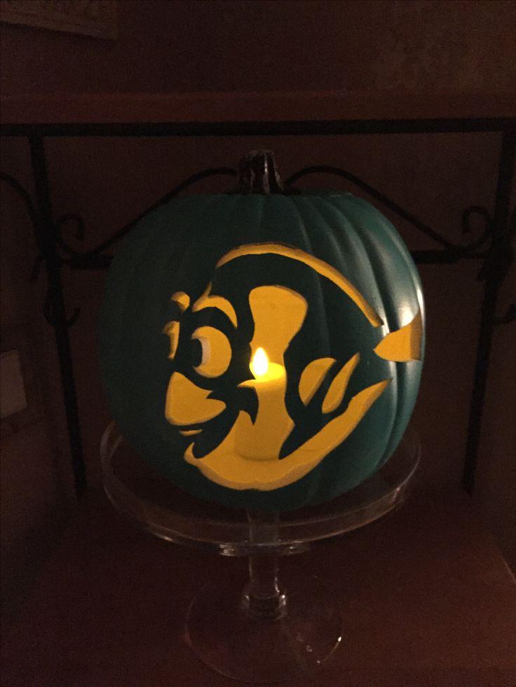 Dory carved pumpkin