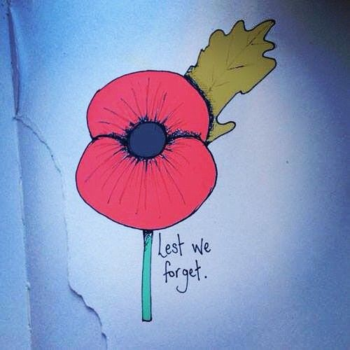 Lest we forget. #remembrance #poppy #illustration