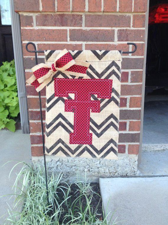 Texas Tech University College Burlap Garden by RKCreativeDesign, $17.00