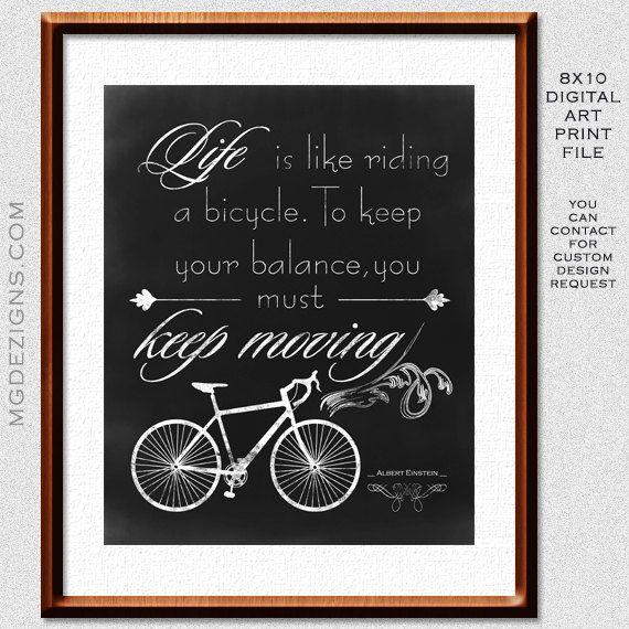 Printable Chalkboard Typography Inspirational 8 x10 print