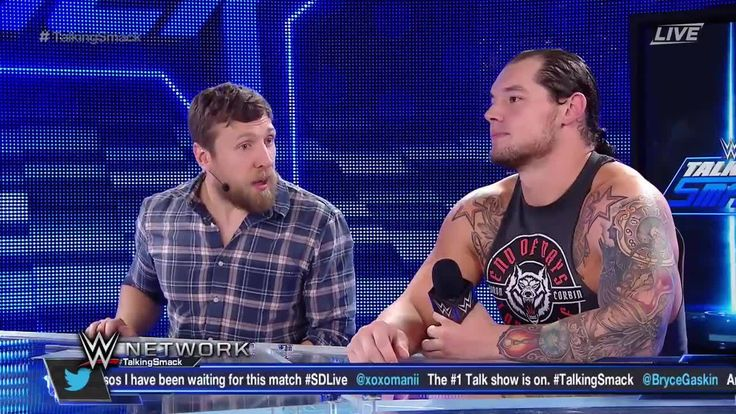 On Talking Smack on WWE Network, WWE SmackDown Live GM Daniel Bryan puts Baron Corbin and Kalisto in a CHAIRS MATCH at WWE TLC in 12 days.