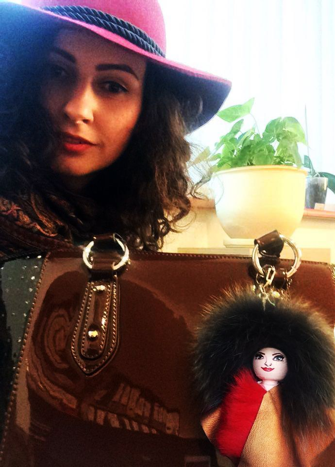 Doesn't these 2 beauties look alike? The doll was custom made to look like her owner :) #bagcharm #furbagcharm #everbrildoll #handmade #unique #recycledmaterials