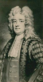 Robert Walpole prime minister of Britain (1721-1742), probably by Sir Godfrey Kneller.