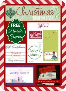 FREE printable Christmas coupons! Have you ever considred this idea?