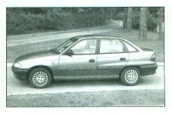 ASTRA-F  1992 to 1998 (prod: n/a).  4-dr saloon, 5-dr hatch, 5-dr estate. F/F, 1389cc/1598cc/1988cc (S4 OC/DOC), 1700cc (S4 OC diesel).   Much warranted rationalisation of engine/body combinations. All cars have crisp styling and new floorpan with improved rear suspension. Good value, well equipped and well made. Terrific, race proved, 2.0-litre 16-valve engine powers the hottest Astra GSi hatch. Convertible - again by Bertone - due in 1993.