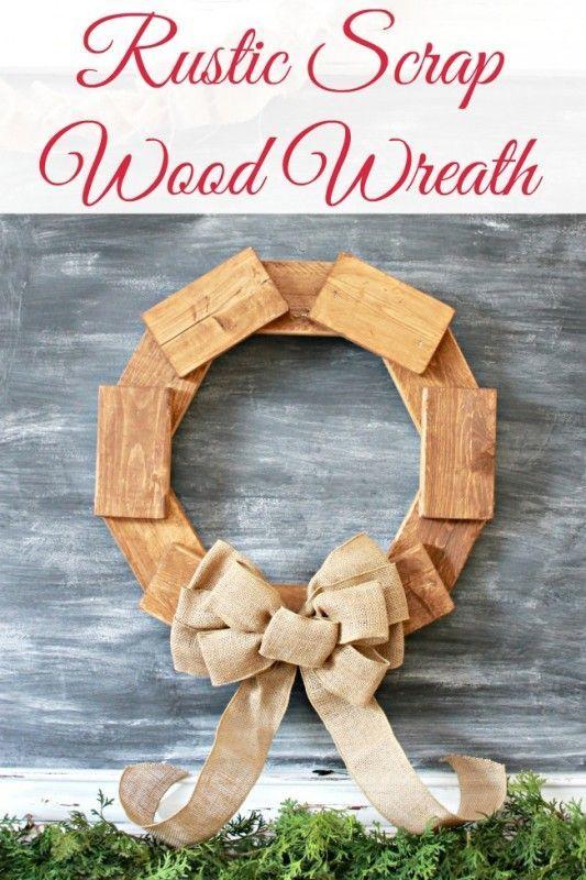 rustic scrap wood wreath