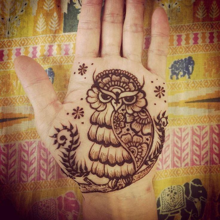 .mehndi design. みみずくー #mehndi #henna #hennaart #hennadesign #hennatattoo #bodyart #faketattoo #メヘンディ #メヘンディデザイン #ヘナ #ヘナデザイン #ヘナタトゥー #ヘナアート #フェイクタトゥー #愛媛西条のメヘンディ屋 by k.k.ayu