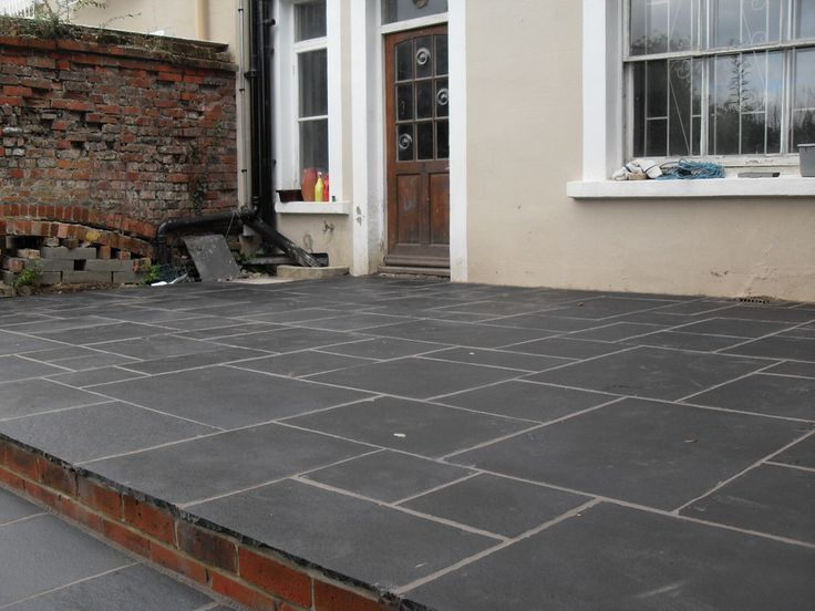 black limestone patio garden garden tiles limestone. Black Bedroom Furniture Sets. Home Design Ideas