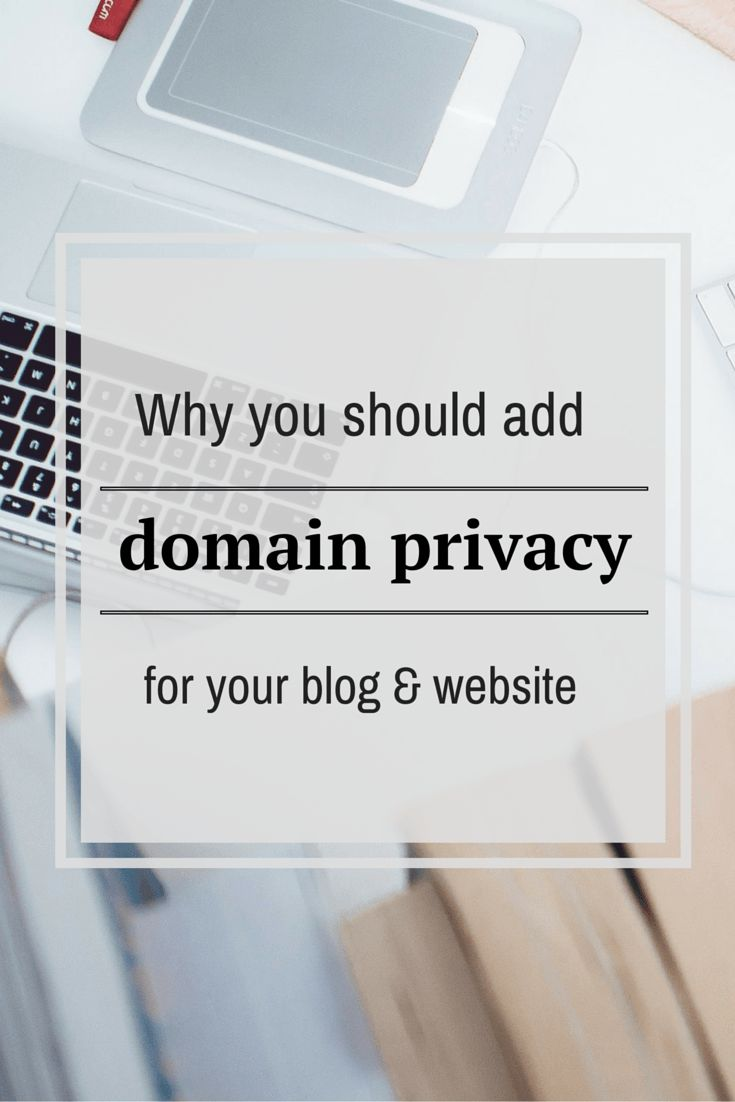 good tip for bloggers and website owners about domain privacy!