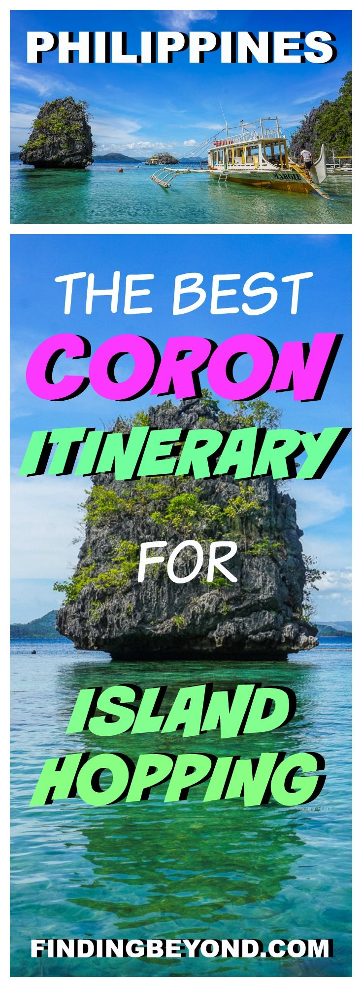 Check out our tried and tested best Coron itinerary which includes Coron Island hopping, awesome accommodation in Coron town and how to get there. | It's more fun in the Philippines | Visit Coron | Best beaches in the Philippines | Best boat tours in Coron | Top activities In Coron | Backpacking In the Philippines | Philippines on a Budget | Top Places To stay in the Philippines | Coral Garden | Baracuda Lake